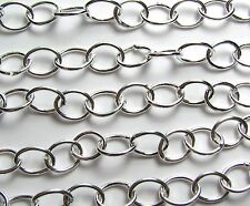 2 ft. SILVER PLATED BRASS 8 x 6mm Oval Chain /B25