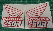 89' 1989 honda CR250 dirtbike decals stickers CR 250 CR250R 250R AHRMA VMX