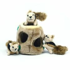 Puzzle Plush Squeaking Dogs Toy Squirrel Hide Interactive Game