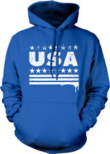 USA Spray Paint Stars Stripes Dripping United States America Hoodie Sweatshirt