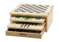 10 In 1 Deluxe Game Set Chess Checkers Tic Tac Toe Backgammon Mancala & More New
