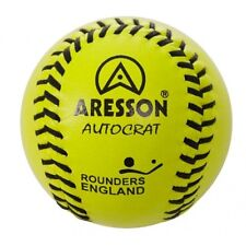 Aresson Autocrat Yellow Leather Match Rounders Ball