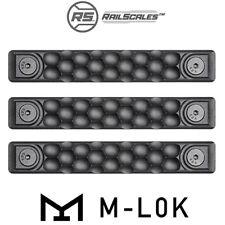 RailScales HTP Polymer Rail Scales M-LOK Cover/Panel, Honeycomb - Black (3-Pack)