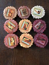 New Yankee Candle Wax Melts Fall Autumn Scents Lot Of 9