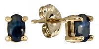 Saphir  Ohrstecker  ECHT  SAPHIR 0.7 ct  925 Sterling Silber  Vergoldet