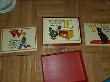 Vintage 1930's Flash Card Alphabet & Rhymes 2002 Cavallini & Co Italy Set