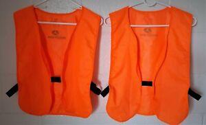 "Safety / Hunters Vests ""Mossey Oak"" Bright Orange  QTY 2"