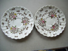 Vintage Stafforshire Chatsworth J & G Meakin Set Of 2 Saucers Classic White