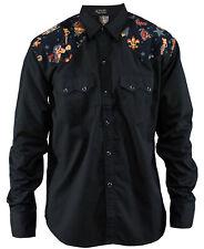 Size M Herren Bowling rockabilly Shirt Work Hemd western cowboy Tattoo oldskool