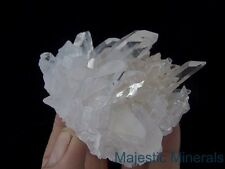 LONG POINTED OPTICAL CLEAR DISPLAY___LARGE Arkansas Quartz Crystal Cluster
