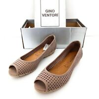 Gino Ventori Nirvana Womens Size 36 Leather Taupe Loafers Flats Shoes AS NEW!