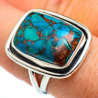 Blue Copper Turquoise 925 Sterling Silver Ring Size 8.5 Ana Co Jewelry R45546F