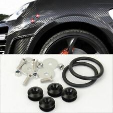 Black Bolt on Fast Quick Release Secure Kit For Subaru Front Rear Bumper Fender