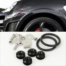 Black Bolt on Fast Quick Release Secure Kit For Subaru Front Rear Bumper Fender