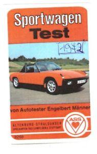 Auto Quartett Sportwagen Test ASS 3268 1973 Titel: VW-Porsche 914
