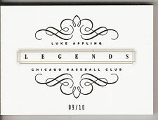 2014 NATIONAL TREASURES AUTOGRAPH & GAME USED JERSEY BOOK LUKE APPLING 09/10!