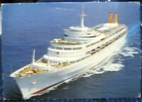 Postcard Transportation P & O Canberra Ship - posted 1988