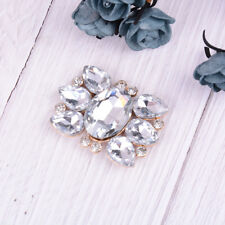 1PC women crystal shoe clips bridal prom shoes buckle decor accessories MW