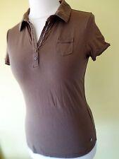 Damen Bluse Shirt Street One braun Gr.36 neu Poloshirt kurzarm