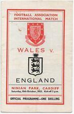 More details for oct 53 wales v england