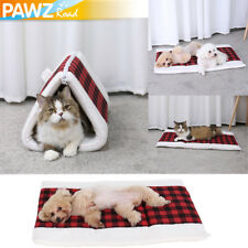 2 in 1 Kitten Cat Winter Bed Portable Dog Cushion Warm Mat Soft Pad Pet Tunnel