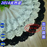13cm,1yard delicate white,black embroidered flower tulle lace trim for DIY FL36