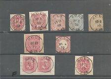 Preussen V. / ZÜLZ 9 interessante Stücke, dabei 2 vorph. K2 auf dekor. Briefst.