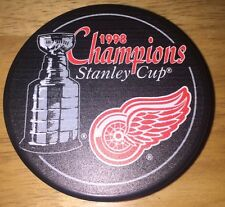 1998 DETROIT RED WINGS NHL STANLEY CUP CHAMPIONS HOCKEY PUCK w/ FREE SHIPPING  7