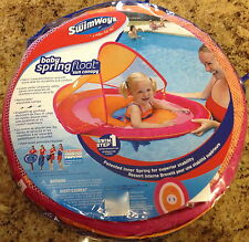 SwimWays Baby Spring Float with Sun Canopy New Hot Pink and Orange