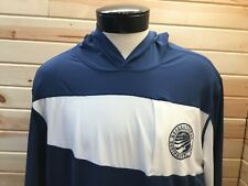 Vintage Recreational Equipment Inc Rei Pullover Jacket Men's Xl Blue White Hood