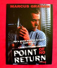 POINT OF NO RETURN 1994 MARCUS GRAHAM NIKKI COGHILL DOUG BOWLES US MOVIE PROGRAM