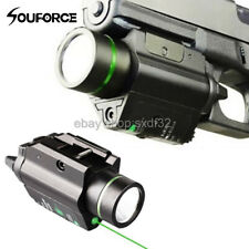 Tactical Flashlight Green Laser Sight LED Light Combo Mount weaver picatinny