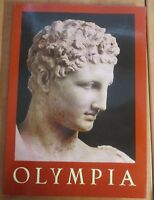 Vintage book Olympia Athens Greece 1989 statues many color & blk/white photos