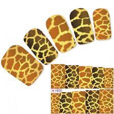 Tattoo Nail Art Aufkleber Leopard Muster Sticker Water Decall Neu!