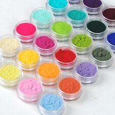 24 Color Velvet Flocking Powder For Acrylic UV Manicure Nail Art Polish Tips DIY
