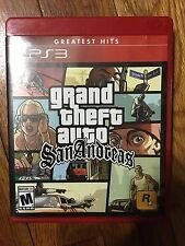 Grand Theft Auto: San Andreas (Sony PlayStation 3, 2015) Complete