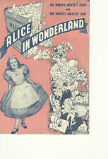 ALICE IN WONDERLAND(1933)W.C. FIELDS ORIGINAL HERALD