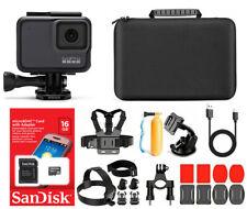 GoPro HERO 7 Silver Waterproof 4k Digital Action Camera with Accessories case