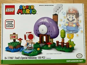 New Sealed Retired LEGO Super Mario Toad's Special Hideaway Expansion Set 77907