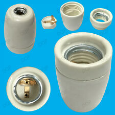 1x in ceramica smaltata Edison ES e27 calore Lampadina Lampada Holder Socket m10 Thread