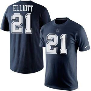 Ezekiel Elliott Dallas Cowboys  NFL Navy Player Pride Name & Number Tee 21 Small