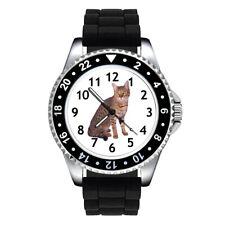 California Spangled Cat Unisex Mens Ladies Jelly Silicone Strap Wrist Watch Se61
