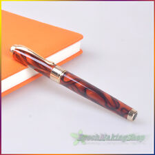 JINHAO 1200-1 Fountain Pen NOBLEST Medium Nib Brown Rock Pattern FREE SHIPPING