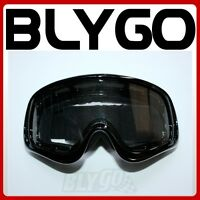 BLACK Clear Lens motocross motorbike goggles anti-fog MX PIT Dirt Quad Bike ATV