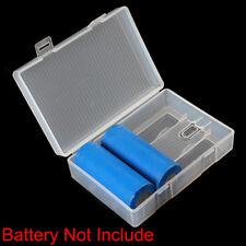 Battery Case Holder Boîtier de rangement en plastique rigide pour 4 piles 26650