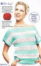 BEATRICE Claire Montgomerie knitting pattern from magazine - pretty lace top