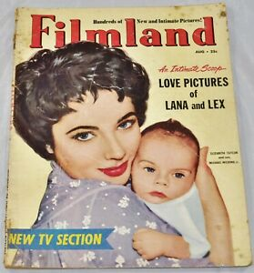 Filmland - Elizabeth Taylor & son cover - Lana & Lex Love Pictures - Aug. 1953
