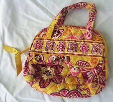"Delightful VERA BRADLEY 6"" Mini Purse, Cosmetic Bag, Pink Floral Print on Yellow"