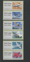 2018 MAIL BY AIR ERROR Collectors strip 2nd class on 1st Class POST & GO  new
