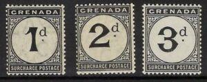 GRENADA SGD8/10 1906 POSTAGE DUE SET MNH
